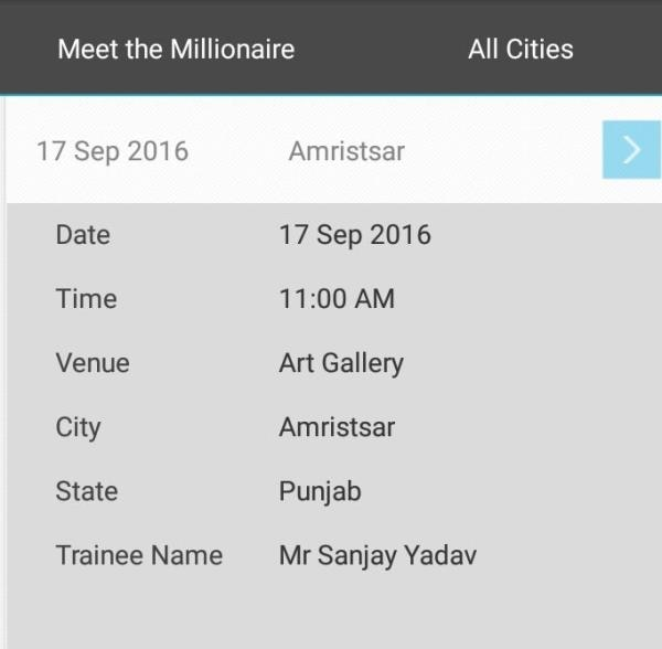 Meet the Millionaire Meeting on 17-sep-2016 at amritsar  contact - 9781040052