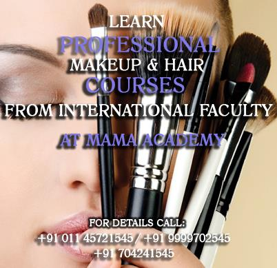 Learn Professional Makeup, Hair & Air Brush Courses from International Artist in Delhi Ncr  For more information login to www.themama.in  Mama - Masters Academy of Makeup Art - by Masters Academy Of Makeup Art, New Delhi
