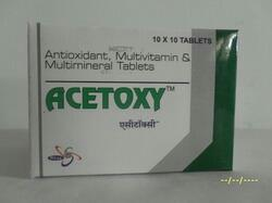 Drug NamePackDrug CategoryVitamin B Complex, A, C, D, E plus Magnesium, Manganese, Selenium, Copper & ZincBlister 10'Sx10Vitamins / Antioxidants  Acetoxy Tablet manufacturer in vadodara Gujarat  Acetoxy Tablet manufacturer in bharuch Gujarat  Acetoxy Tablet manufacturer in surat Gujarat  Acetoxy Tablet manufacturer in pune maharastra  Acetoxy Tablet manufacturer in Gujarat india