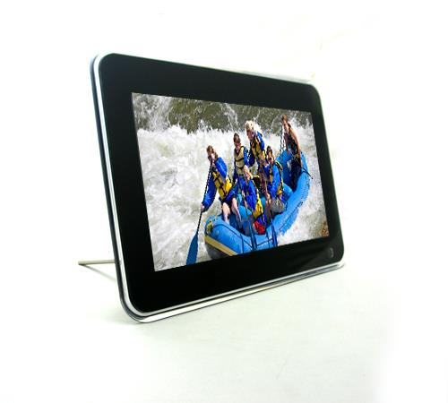 10 inch Digital Photo Frame  Monitor: TFT screen Screen size: 16:9 Resolution:  1024 X 600 Supports memory card:  SD, MS, MMC Support playback format: JPEG Support Calendar, Clock and Alarm Built-in USB slot Built-in stereo speaker Supports multi-language Full function remote control