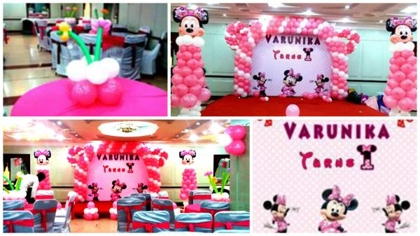 Event: Varunika's Birthday Party  Theme & Color Theme: Minnie Mouse & Pink & White Scope of Work: Back Drop Design, Entire Venue Decor, Photography, Photo-Booth Thanks to Mom & Dad of Varunika for giving us such wonderful opportunity. www.midor.in #birthdayparty #midorevents #midorentertainments