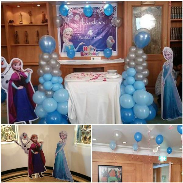 Thanks to Mum & Dad of Aarika for giving us this opportunity Scope of Work Frozen Theme With Cutout Design / Decoration / Balloon Sculpting / Tatoo #midorevents #midorentertainments www.midor.in