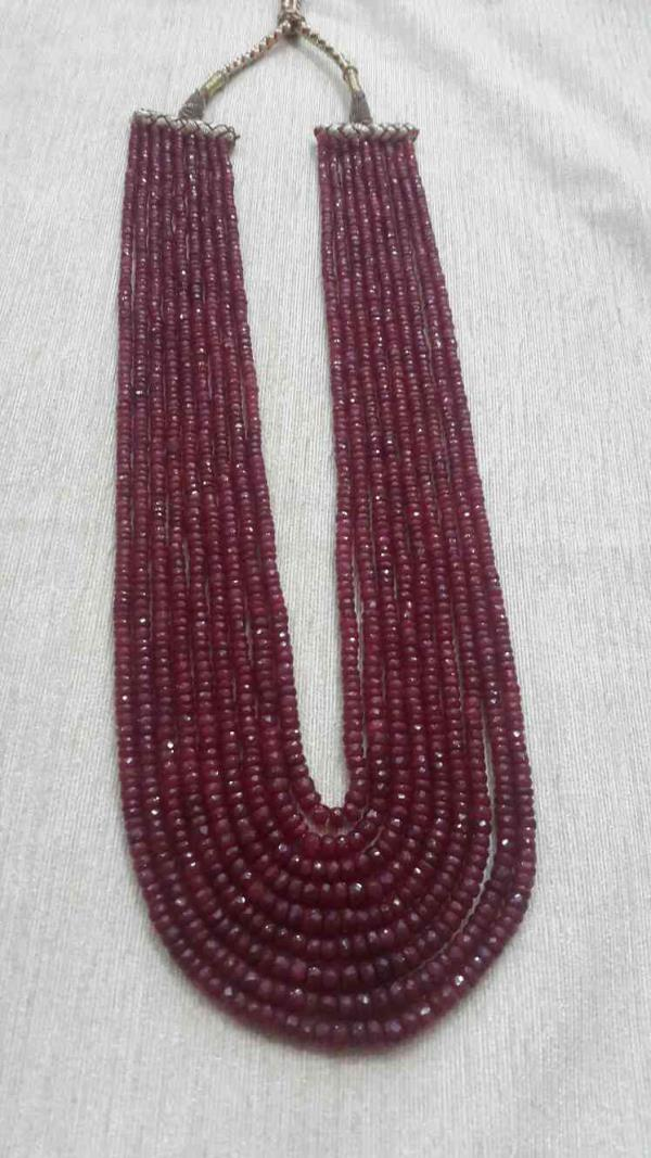 real ruby beads  - by TKD Jewellers, Hyderabad