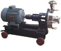 CENTRIFUGAL BARE SHAFT COUPLED PUMP WITH TROLLEY These pumps are stainless steel centrifugal monoblock and bare pumps(coupled). These pumps are made from ss-304 or ss-316 sheet. The pumps are precisely fabricated.