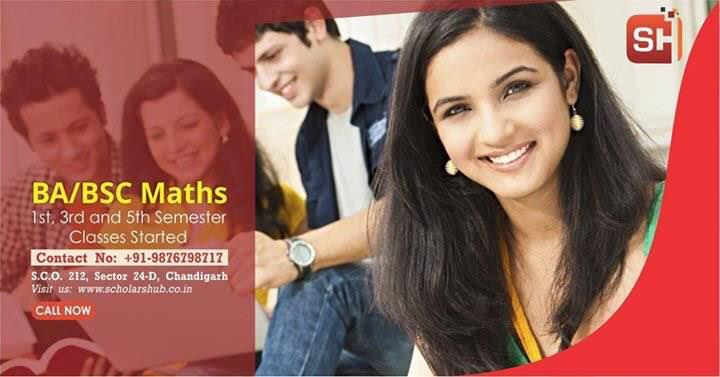 BA Maths Bsc Maths Tuition Classes in Chandigarh  Analysis , Algebra, Probability Classes in Chandigarh by experienced and highly qualified Maths expert - Scholars Hub 9876798717