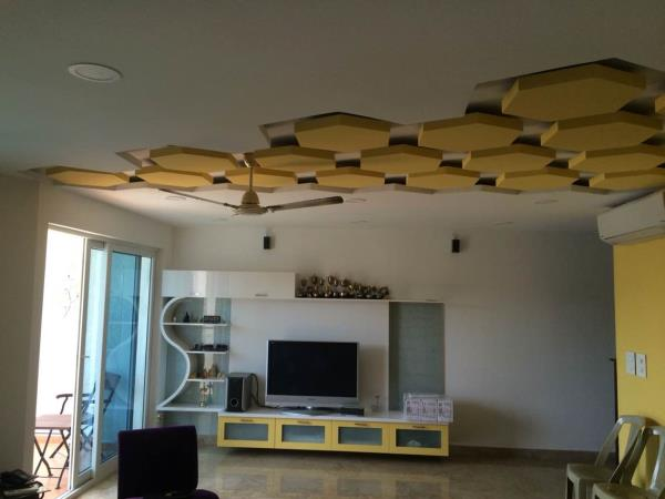 This ceiling we have designed in the concept of honeycomb. Thanks to our client who was ready to explore with our designs.  - by Insign, Chennai