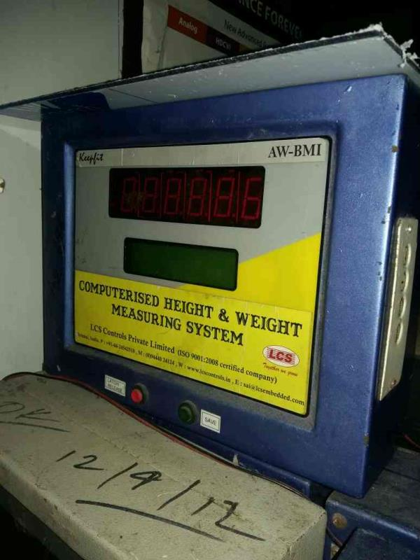 computerised height and weight measuring system mamufacturer in kolkata