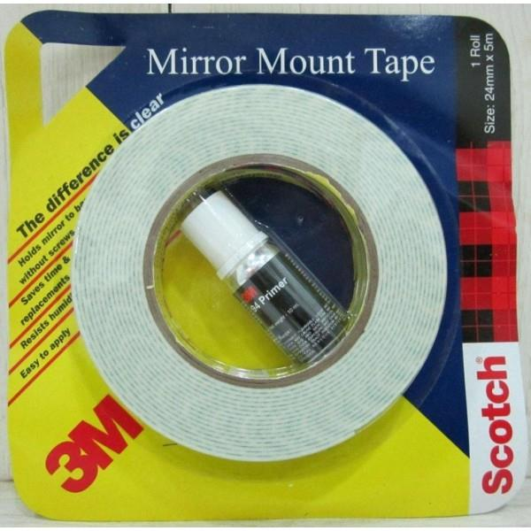 3M Mirror Mount Tape   Product features  -Double side tape that holds mirror to the substrate  -Superior adhesive technology for better bond strength   Advantages  -Strongly holds the mirror to the substrate without screws  -Reduces the cha - by GD Traders, Aurangabad