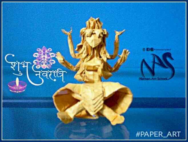 Navratri special paper art Art School in Bareilly Naman Art School - by Naman Art School, Bareilly
