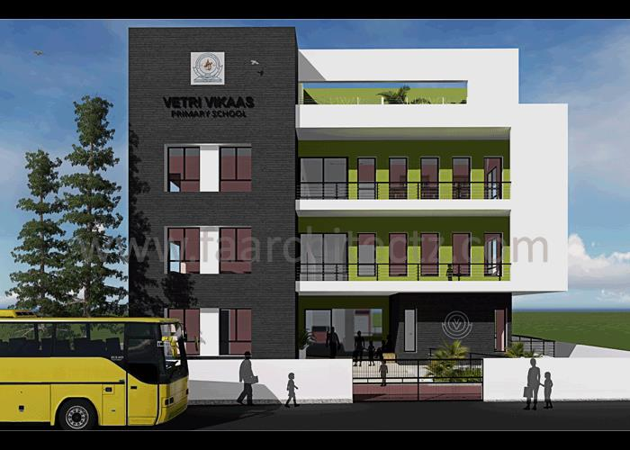 School Building Architecture Design in Alwarpet, School Building Architecture Design in Chennai, School Building Architecture Design in Tamilnadu, School Building Architecture Design in India.  Our work embraces to highlight a different fac - by FOURTH AXIS ARCHITECTS, Chennai