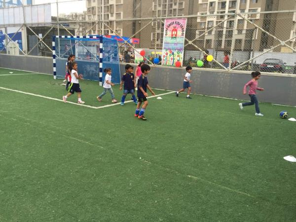 The soccer festival organised by Olive Green Kids School, in which 140 kids participated. It was a great success. Children from KPrS and Soccer Champs also participated  - by Olive Green Kids School, Ahmedabad