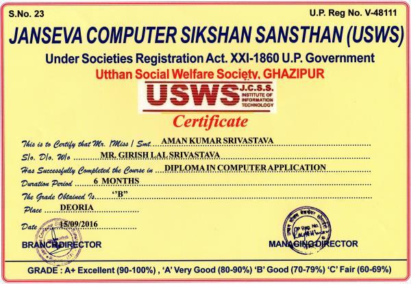 Result - by jansevacomputersiskshansansthan, Deoria
