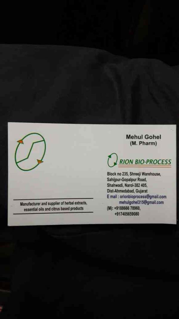 Our Visiting Card Supplier of Herbal extracts in Dahej Supplier of Herbal extracts in Vadodra
