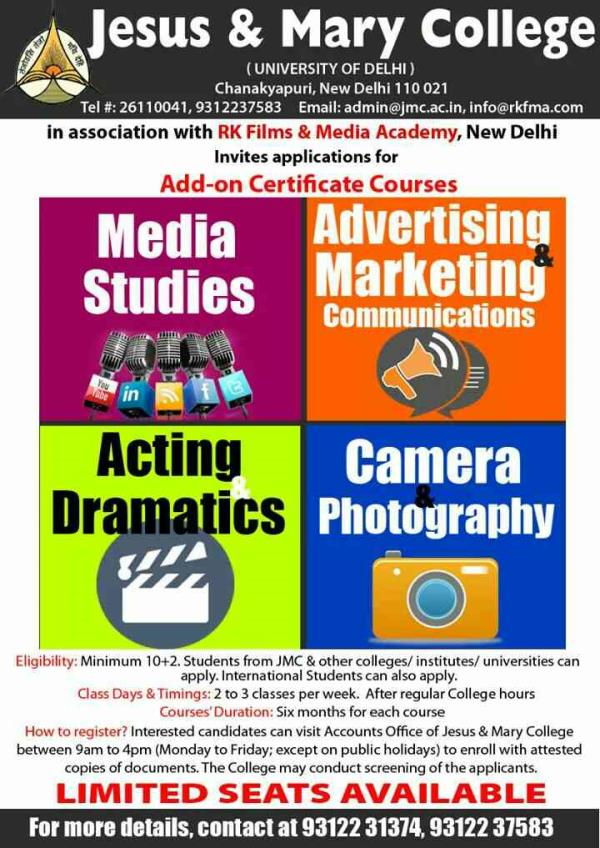 Advertising And Marketing Communications is one field which will always be booming. You can either Become a Public Relations Officer, Marketing Manager or Copy Writer by taking our Advertising And Marketing Communications Course. This Cours - by RK Films & Media Academy   Ph# 09312237583, New Delhi