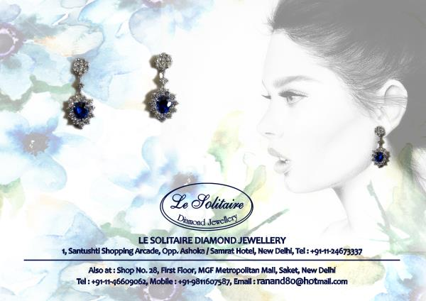 Blue Sapphire And Diamond Earring For Further Details Visit Us- www.lesolitaire.in - by Le Solitaire, New Delhi