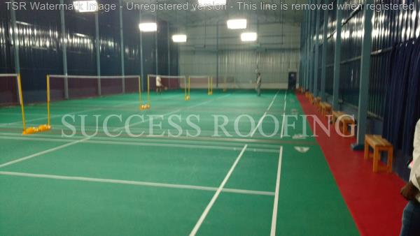 Badminton Court Roofing Shed  'SUCCESS ROOFING'  WE ARE ALL KINDS OF ROOFING WORK PROVIDING. FACTORY SHED, INDUSTRIAL ROOFING SHED, HOUSE MADE ROOFING SHED, SPORTS CLUB SHED, MARRIAGE HALL SHED, TERRACE SHED, COW SHED, POULTRY, BADMINTON CO - by SUCCESS ROOFING, padappai