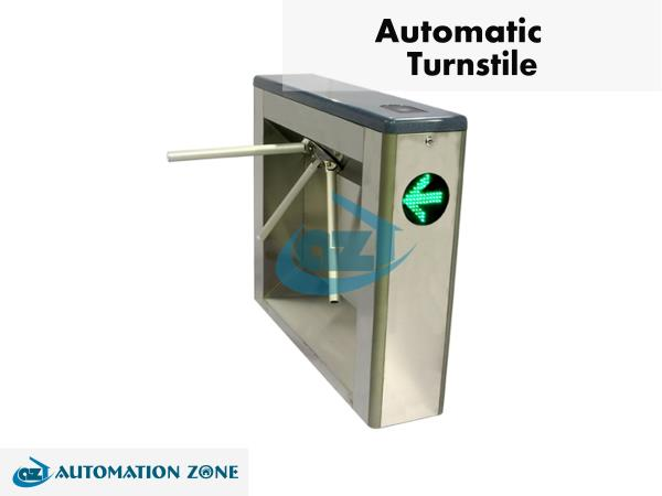 TRIPOD TURNSTILE  		Tripod Turnstiles are compact and cost-effective entrance solutions designed for smooth and silent operation, less wear and rear and reduced power consumption, suitable for areas where there is a large flow of people.  		Tripod Turnstile Gates offers high operating reliability in as small casework, ideal for sites where space is an issue. On receiving a signal from the access control system, or push button, it allows the passage of one person at a time. Passage in both directions is electronically controlled. Default mode is to lock the mechanism until a valid authorization signal is received. If you want to set one side free, you can have it by adjusting the mechanism. In case of emergency, the horizontal arm will drop to allow free passage.  Reliability Alloy steel tripod hub prevents mechanical wear Casework and tripod arms manufactured in stainless steel Electromagnets for lock are used only when activated. They are in standby mode when the device is idle. High quality electrical components. Safety and humanization design Drop arm design for emergency purpose There are no exposed screws; it is safer for the user. Smooth operation designed for mass transit application The pictogram on the device indicating access permission and direction of movement. Easy integration Flexible reader installation plate. Customer can easily integrate third party reader. Standard electrical interface for third party device Using compact mechanism, the turnstile has more space inside for integration. Security turnstiles, Electronic turnstiles, Access control turnstiles and many more types are available based on the application.