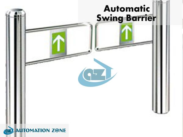 SWING BARRIER  Our single lane swing barrier turnstile series designed for smooth and silent operation and draws very little power. It's made of stainless steel which makes Swing Arm Barriers highly durable. Swing Gate Parking Barrier tempered-glass barriers are normally held in a locked position, thus denying access to the secured side. Upon swing reader (RFID and/or fingerprint) positively recognizing a user's valid access card or fingerprint, its barriers swing automatically, thus allowing users passage to the secured side. Swing barrier access control can also be integrated. During emergencies and power outages the barriers automatically swing, thereby ensuring users fast unencumbered exit to safety. This function is available during power off if fire control board and battery are installed Double leaf swing Barrier provides both security and convenience, all in a very durable yet elegant compact design.