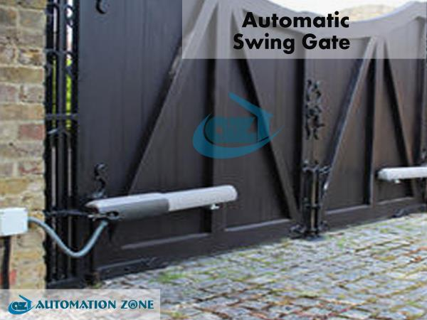 GATE AUTOMATION    MOTORIZED SLIDING GATE   Sliding gate automation are depends on gear teethes and moved by motor which make movement through its gear and worm. The Gate slides on sliding track which is made by steel rod. Automation of gat - by Automation Zone, Coimbatore
