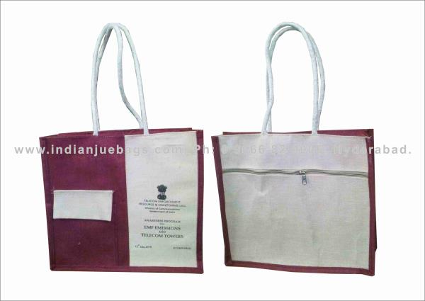 Jute conference bags and big shopping bags for corporate clients and software companeys - by Indian jute bags, Hyderabad