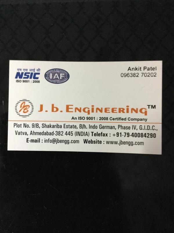 J.b. Engineering is Manufacturer of E.T.O Gas Sterilizer