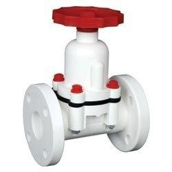 DIAPHRAGM VALVES, WITH NEOPRIN RUBBER DIAPHRAGM , AND FLANGE ENDS TO ASA 150#. & PP MATERIAL IN AVAILABLE.  - by RACER VALVES, Ahmedabad