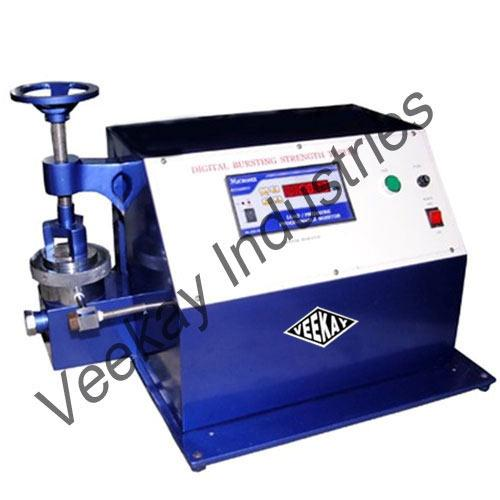 We are Leading Manufacturers of  Digital Bursting Strength Tester in India  Digital Bursting Strength Tester   Digital Bursting Strength Testing Machine  Bursting Strength Tester   Bursting Strength Testing Machine  For More Details Refer our Website www.veekay-industries.com www.veekayindustries.org