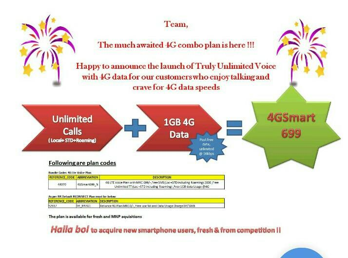 4G 1GB with Unlimited Local + STD + Roaming  - by Narsimha Marketing, Mumbai