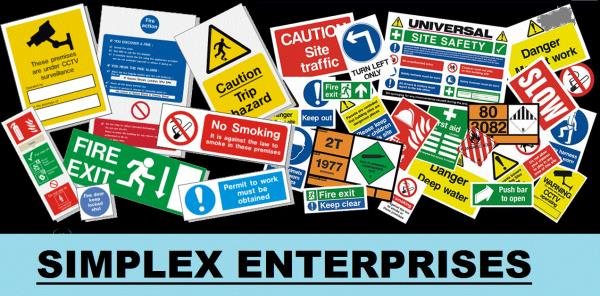 SAFETY SIGN BOARDS  All types of SAFETY SIGN BOARDS are available with us. We are located in Hyderabad Ranigunj.   - by Simplex Enterprises, Hyderabad