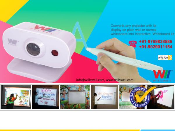 Willswell Technologies Pvt Ltd offers you a frameless Interactive Whiteboard Kit which converts any standard Whiteboard or plain wall or screen into Smart Interactive touchscreen .