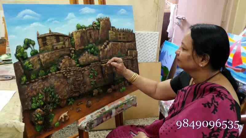 clay work classes in Ameerpet  painting classes in Ameerpet  kinds drawing classes in Ameerpet  hobby painting classes in Ameerpet  - by Shantha Painting Institution, Hyderabad