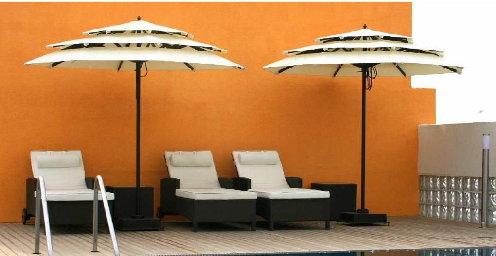 Garden Umbrellas Delhi  Garden Umbrella - MULTIVOLA WIND-PROOF Construction   Our range of garden umbrellas is a must to be used with outdoor furniture during hot sunny days. These garden umbrellas are manufactured within our manufacturing  - by Ferrous Craft, New Delhi