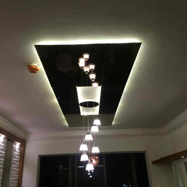 Best home designers in Bangalore Rubenius Interiors A beautiful designer lighting and a designer false ceiling for the living makes it a beautiful interior space. adding enough lighting to the space the false ceiling becomes a designer element in the room