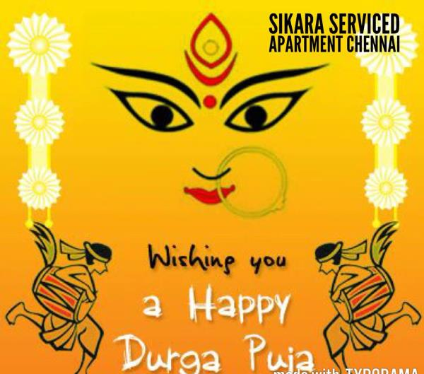 Best Hotel Tambaram, Sikara Serviced Apartment chennai. Wishes all a happy Durga festival. Let's all the new wealth comes in this day. We have a special lunch for the Inhouse guest.   Best hotel in tambaram  Hall in tambaram  Restaurant in tambaram