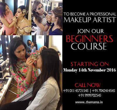 To become a Makeup Artist Join Beginners Course in Delhi Ncr  For more information login to www.themama.in  Mama - Masters Academy Of Makeup Art - by Masters Academy Of Makeup Art, New Delhi