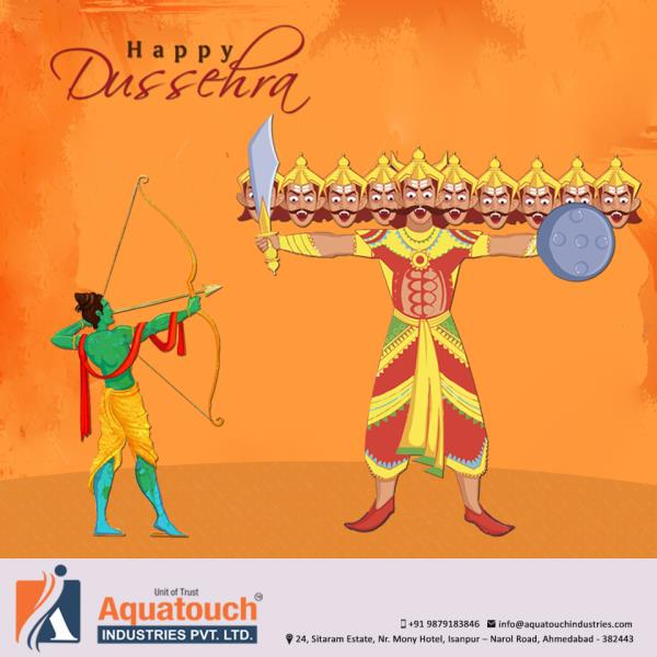 This #Dussehra, #Aquatouch-Industries-Pvt-.Ltd wishes that all its clients and their family and friends be blessed with good fortune. May you have the hopes of good times this Dussehra and your dreams might be fulfilled in your best interest. Through our superior quality #PVC- pipes and fittings, we wish that your Dussehra is a safe and secure one. Get our#pipes and fittings this festive season and enjoy the assurance of being in safe hands when it comes to dealing with the infrastructure of your house. We are there to help you out with your requirements ensuring that you get the right products at the bets prices. Usher in this Dussehra with great safety and strength with our #PVC-pipes and fittings that surely help you in gaining great power. We give you the scope of enjoying this auspicious occasion without any worries and troubles. A very #happy-Dussehra to you and your family.