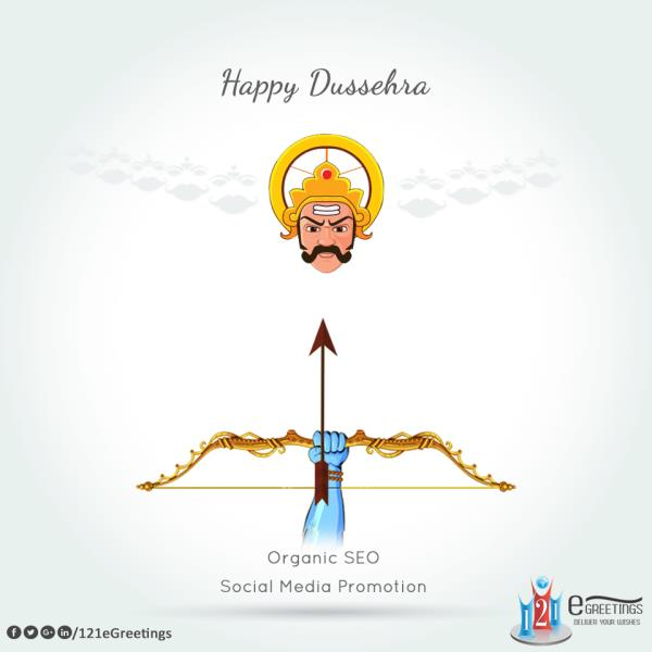 This #Dussehra, we wish that your life is always happy just like the candlelight fame. We also wish that you move ahead in life just like the high mountain. Dussehra is the time for celebrations and greetings and we make his entire occasion - by 121 E Greetings, Ahmedabad