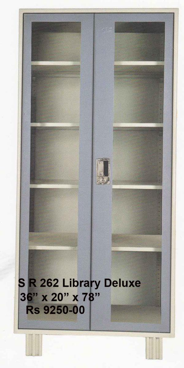 Library Cupboards : Cupboards with front of Glass to offer visibility for the stored products .Can be effectively used in Libraries and Laboratories . Available in size 36 inches width x 20 inches deep x 78 inches height . The cost of this  - by Haitu Engineers, Pune