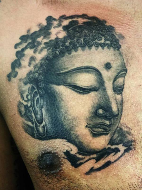 Meditation Buddha Tattoo done by JAYESH at Ink Location Tattoos Studio, Calangute, Baga Road, Goa.