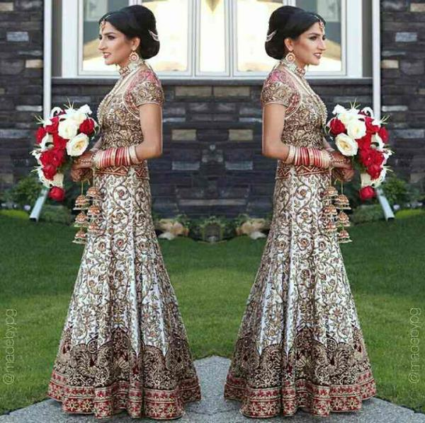 #bridal dress #embroidery #golden #grey #maroon..Grab this dress from #stallion outlets in Mumbai or place your orders by visiting our website www.stallion.nowfloats.com WORLDWIDE DELIVERY #stallion