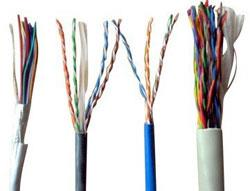 Networking Cables  The company is proud to introduce ourselves as one of the distinguished Cat-5 and Cat-6 Cable , cat 7 cable Manufacturers and Suppliers in India. Network Cat-5, cat 7  & Cat- 6 Cables is a well-known name in networking/Lan Cable. Copper conductor and insulating material used in the production process are of the superior grade, in order to match Electronic parameter like as Attenuation, Impedance, near and far end cross talk and return losses. Available in diverse specifications, these Cat-5 and Cat-6 Cables can be obtained at market leading prices from us.  Technical Details Of UTP Cat-5 •	Conductor Diameter : 0.51 ± 0.01 mm •	Electrolytic Annealed Bare copper Conductor •	Insulation : Solid Polyethylene •	Insulation Thickness : 0.20±0.03 mm •	Dia over Insulation : 0.90+0.05/-0.0 •	Twisting Lay Length : Different lay length of individually pair from 12 to 21 mm •	Average Thickness of Jacket/Sheath : 0.50±0.05 •	Overall Diameter : 5.50 mm (Nom.) •	Jacket/Sheath Material : FR PVC •	Color of Jacket/Sheath : Grey/Blue/Orange and as per customer Requirements   Note : In Cat-6 cables a polyethylene separator is used to reduce of electronic losses and is suitable to long distance/performance.   Applications Internet/Networking Wiring Systems As a LAN cable