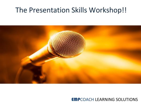 How to conduct Impact Presentations? How to ensure audience attention throughout my presentation? Looking for answers that will leave you skilled to structure and deliver your presentations with aplomb? May it be Presentation Skills Trainin - by EMPCOACH LEARNING SOLUTIONS, Bengaluru