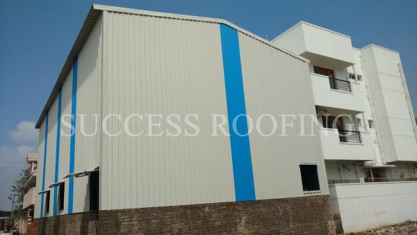 Metal Roofing Shed  'SUCCESS ROOFING'  WE ARE ALL KINDS OF ROOFING WORK PROVIDING. FACTORY SHED, INDUSTRIAL ROOFING SHED, HOUSE MADE ROOFING SHED, SPORTS CLUB SHED, MARRIAGE HALL SHED, TERRACE SHED, COW SHED, POULTRY, BADMINTON COURT SHED A - by SUCCESS ROOFING, padappai