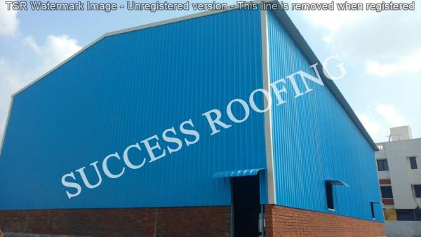 Factory Roofing Shed  'SUCCESS ROOFING'  WE ARE ALL KINDS OF ROOFING WORK PROVIDING. FACTORY SHED, INDUSTRIAL ROOFING SHED, HOUSE MADE ROOFING SHED, SPORTS CLUB SHED, MARRIAGE HALL SHED, TERRACE SHED, COW SHED, POULTRY, BADMINTON COURT SHED - by SUCCESS ROOFING, padappai