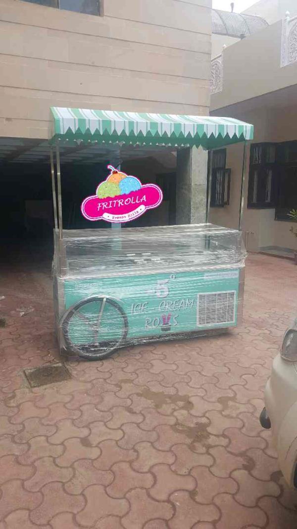 Fried ice cream roll machine india more info www.fritrolla.com - by Fritrolla frozen ice cream rolls machine, Faridabad