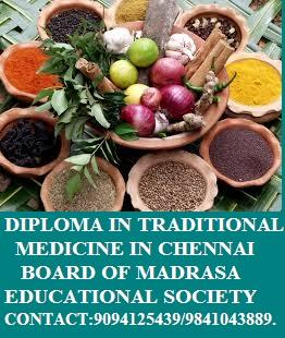 ADMISSION OPEN FOR DIPLOMA IN TRADITIONAL MEDICINE IN CHENNAI BOARD OF MADRASA EDUCATIONAL SOCIETY CONTACT: 9094125439/9841043889 VISIT: WWW.BMESOCIETY.ORG - by Rajarajan Academy 9094125439, Chennai