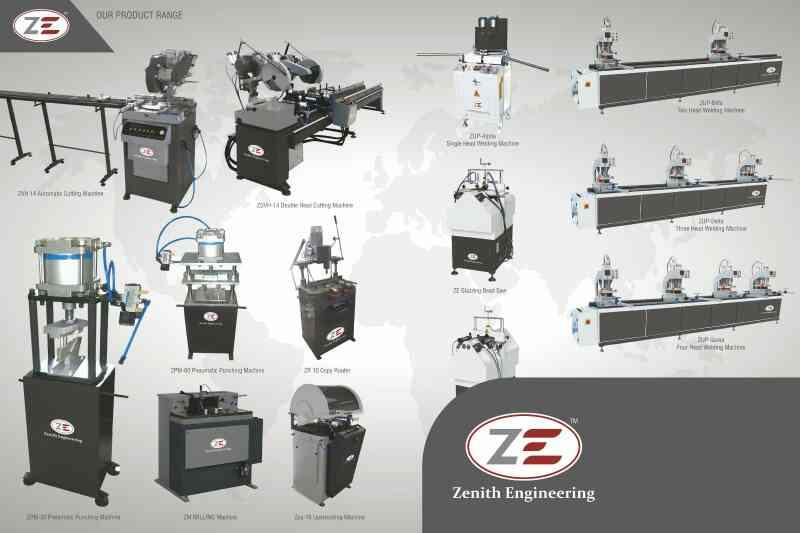 upvc welding machine manufacturer in India  upvc v cut saw manufacturer in India  upvc glazing bead saw manufacturer in India upvc cleaning machine manufacturer in India  zenith engineering is india's largest manufacturer of aluminium and u - by Zenith Engineering Corporation, Vadodara