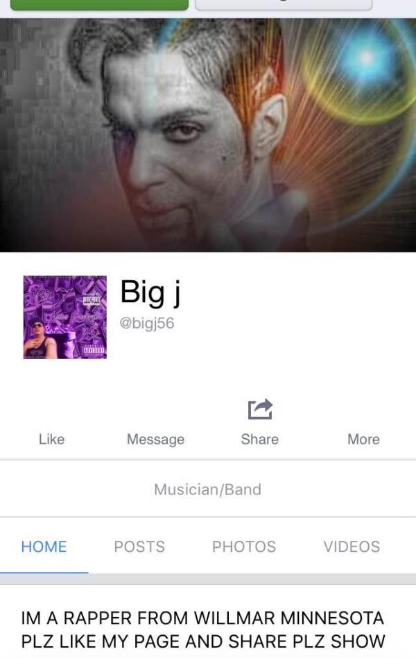 Please like my fan page https://m.facebook.com/bigj56/