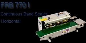 FRB-770 series continuous band sealer from Ace finepack can seal plastic films made from various materials continuously. Embossing printing device and counting device can be equipped. There are three models, including horizontal model (FRB- - by Ace Finepack Private Limited, Ernakulam