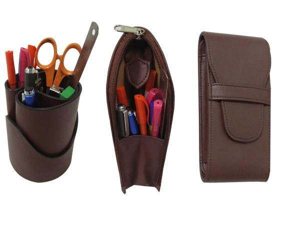 Essart TS-21-Brown ( Three in One ) Desk Set Essart 3 in one Desk Set (Pen Tumbler , Pencil Case & Pencase for 3pens)-Brown Essart 3 in one Desk Set One Pen Tumbler , one Pencil Case & one Pencase for 3pens. http://www.amazon.in/dp/B01HJKMV - by Essart India, New Delhi